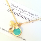 Single Orchid Necklace with Accent Stone
