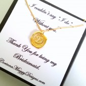 Wax seal monogram pendant
