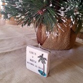 Personalized Palm Tree Wedding Favor Ornaments