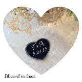 Black and white Wedding dress personalized tags