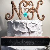 Two Letter Cake Topper