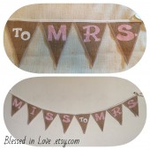 Miss to Mrs. burlap banner