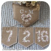 Baseball themed wedding decor, burlap save the date, burlap home plated shaped ring pillow