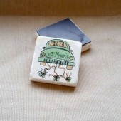 Personalized Just Married Wedding Favor Magnets