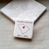 Personalized South Carolina Wedding Favor Magnets