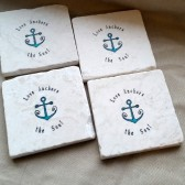 Love Anchors the Soul Favor Coasters