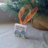 Personalized Hydrangea Ornament Favors