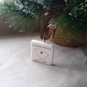 Personalized South Carolina Holiday Ornament