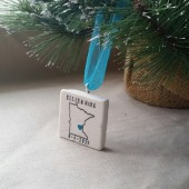 Personalized Minnesota Christmas Ornament