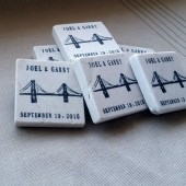 Personalized Golden Gate Bridge Wedding Favor Magnets