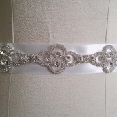 Wedding Belt Sash, Bridal Belt Rhinestone, Wedding Belt Crystal, Rhinestone Sash Belt, Art Deco Wedding Sash