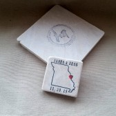Personalized Missouri State Wedding Favor Magnets