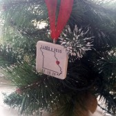 Personalized Missouri State Christmas Ornament