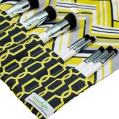 Makeup Brush Roll | Citron Chevron