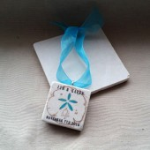 Personalized Seashell Wedding Favor Ornaments