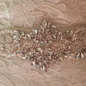 Luxurious Crystal and Pearl Sash