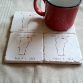 Vermont State Stone Coasters