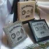Personalized Ornament First Christmas As Mr. and Mrs.