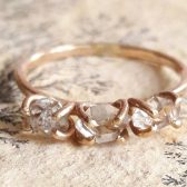 Three Stone Herkimer Diamond Ring by Gaia's Candy
