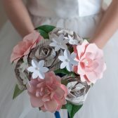 Paper Flower Bridal Bouquet