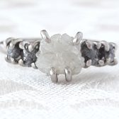 Five-Stone Rough Diamond Engagement Ring by Gaia's Candy