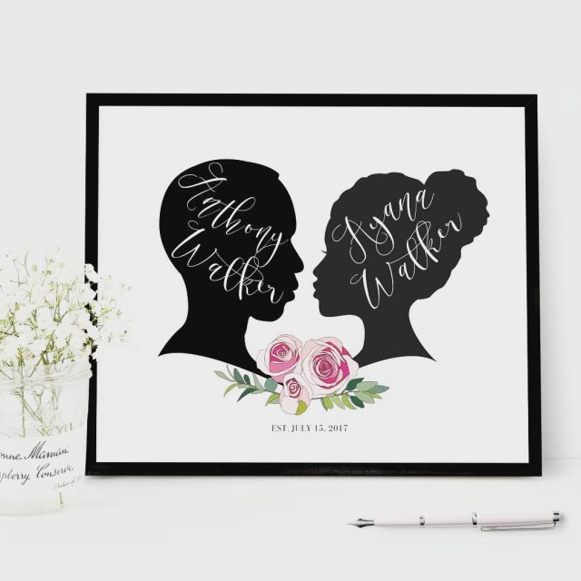 In love with these silhouette guest books by flutterbyeprints! Customhellip