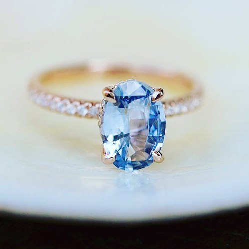 SOMETHING BLUE  Obsessing over these 14 blue engagement ringshellip