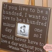 "20"" x 20"" Winnie The Pooh Quote Picture Frame"