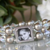 Platinum Pearl Photo Bracelet