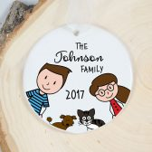 Personalized Family Ornament - Custom Christmas Ornament - Family Gift - New Family - Growing Family - Family Keepsake - Holiday Gift