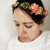 Tangerine Gold Floral Crown
