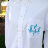 Monogrammed Bridesmaid Shirt