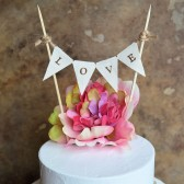 Wedding cake topper...L O V E banner for your wedding cake
