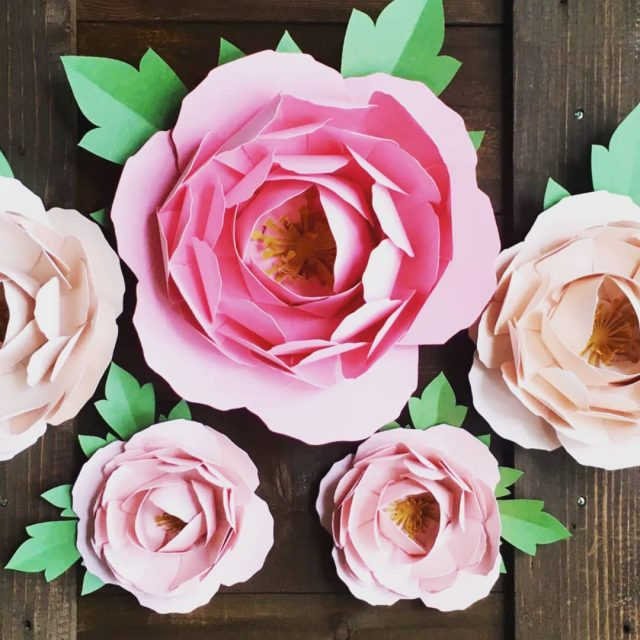 Paper peonies Deck out your ceremony  reception space withhellip