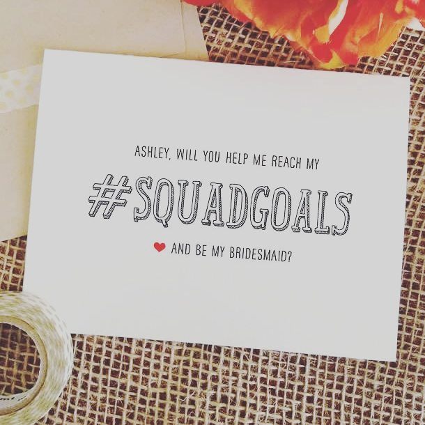 For your squad   cards by weddingcheer see ourhellip