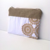 White Vintage Wedding Clutch
