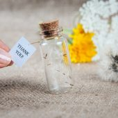 Wedding favors bottle Thank you bottle Personalized bottle favors Dandelion rustic wedding favors Wedding thank you gift Wedding Guest favor