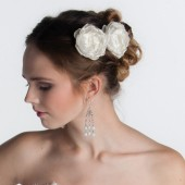 BRIDAL HAIR FLOWER - Bridal Hair Accessory - Bridal Headpiece - Bridal Hairpiece - Wedding Accessory - Ivory Hair Flower