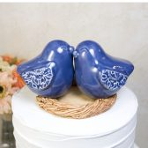 Denim Blue Love Birds