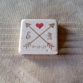 Personalized Crossed Arrows Wedding Favor Magnets