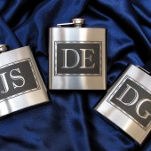 Monogrammed Flasks, Gfits for Groomsmen