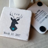 Personalized Deer Drink Coasters