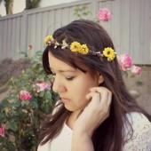 Sunny Yellow Floral Crown