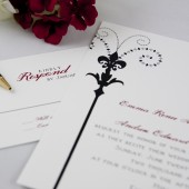 Fleur de lis Wedding Invitation