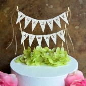 Wedding cake topper...forever always banner for your wedding cake