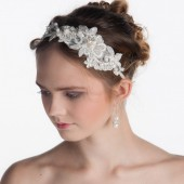 Lace headband, Bridal headband, Flower headband, Wedding headband, Wedding hair accessories