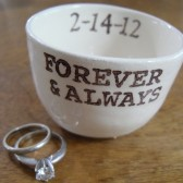 Personalized Wedding Ring Pillow or Wedding Candle Holder or Wedding Favors
