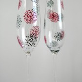 Geometric Flower Wedding Flutes