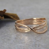 rose gold wedding band, 14k gold wedding ring, handmade ring, infinity ring