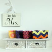 yellow and purple cosmetic bags